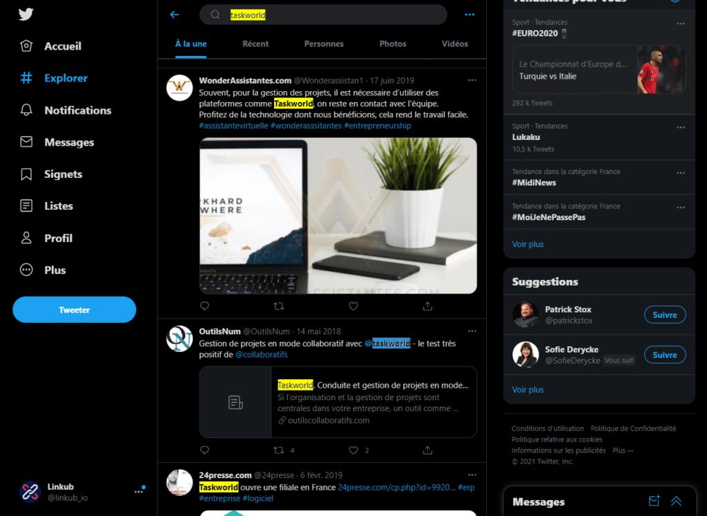 Type of links we target : unlinked brand mentions screenshot