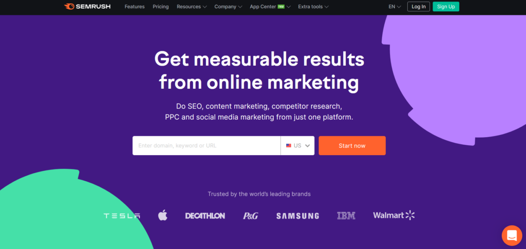 SEMrush is one of the best competitive intelligence tools for partnership marketing.
